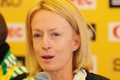 Deena Kastor (USA) at the IAAF Press Conference for the 40th edition of the IAAF World Cross Country Championships in Bydgoszcz, Poland, Saturday 23 March (Getty Images)