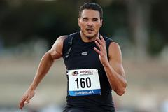 Josh Ross, winner of the 100m in Adelaide (Getty Images)