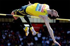 Bogdan Bondarenko wins the high jump at the Birmingham Diamond League (Mark Shearman)