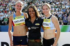 Kelly Holmes with England and Christmas (Getty Images)