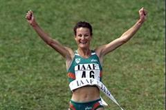 Sonia O'Sullivan winning at the 1998 World Cross Country Championships (Getty Images)