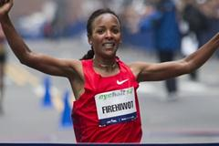 Course record for Firehiwot Dado in New York Ciity Half (Courtesy of NYRR)
