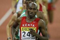 Bernard Lagat of Kenya wins the 3000m final in Budapest (Getty Images)