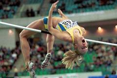 Lisbon 2001 Women's high jump (© Allsport)