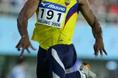 Hugo Chila of Ecuador in action in the men's Triple Jump final (Getty Images)