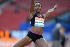 Tianna Bartoletta at the 2014 IAAF Diamond League meeting in Glasgow (Jiro Mochizuki)