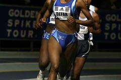 Meseret Defar (ETH) heads women's 5000m in Boston (Victah Sailer)