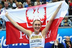 High jump gold medallist Kamila Licwinko at the 2014 IAAF World Indoor Championships in Sopot (Getty Images)
