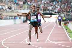 Mo Farah wins the 5000m at the IAAF Diamond League meeting in Lausanne (Victah Sailer)