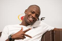 Nijel Amos ahead of the 2014 World Athletics Gala in Monaco (IAAF / Philippe Fitte)