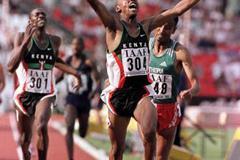 Nicholas Wachira wins the 800m (© Allsport)