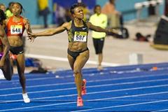 10.81 world leader for Carmelita Jeter in Kingston (Errol Anderson - The SportingImage.net)