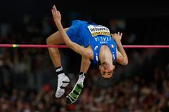 High jump winner Gianmarco Tamberi at the IAAF World Indoor Championships Portland 2016 (Getty Images)