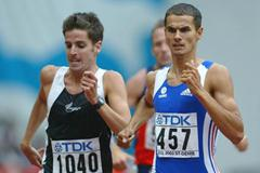 Mehdi Baala of France in the 1500m heats (Getty Images)