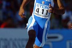 Andrew Howe of Italy in the Men's 200m (Getty Images)