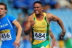 Bradley Britz of South Africa in action during the 100 metres qualification during day one of the IAAF WYC Lille July 6. (Getty Images - Stu Forster)