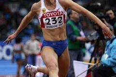 Tatyana Lebedeva of Russia on her way to winning the gold medal in the women's Triple Jump final (Getty Images)