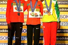 The women's medallists in the IAAF/EDF Energy World Half Marathon Championships in Birmingham (L-R) Philes Ongori (silver), Mary Keitany (gold) and Aberu (Kebede) (Getty Images)