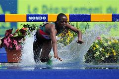 Despite an unplanned dip in the waterjump, Norah Jeruto Tanui took a commanding victory in Lille (Getty Images)