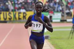Vivian Cheruiyor at the 2016 Kenyan Olympic Trials (Getty Images / AFP)