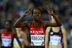 Faith Kipyegon wins the 1500m at the 2014 Commonwealth Games (Getty Images)