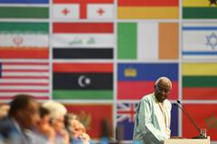 Lamine Diack at the IAAF Congress in Moscow (Getty Images)