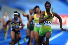 Gold medalist Olivia JAMES of Jamaica in action during the Girls Medley final - Day Five - WYC Lille 2011 (Getty Images)