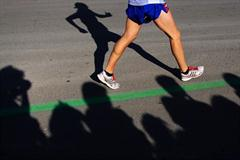 A close up of Junior champion Eider Arevalo's stride in Chihuahua (Getty Images)