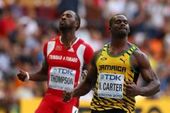 Nesta Carter after winning the 100m bronze medal at the 2013 IAAF World Championships (Getty Images)