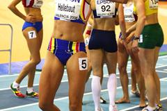 Tia Hellebaut celebrates her pentathlon victory (Getty Images)