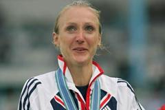An emotional Paula Radcliffe receives the women's 2005 World Championship Marathon gold medal in Helsinki (Getty Images)
