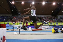 Triple jump winner Alexis Copello at the Indoor Meeting Karlsruhe (Jean-Pierre Durand)