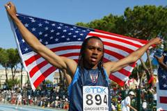Aries Merritt of USA celebrates his 110m Hurdles victory (Getty Images)