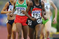 Sammary Cherotich of Kenya on her way to gold in the 1500m final (Getty Images)
