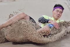 Li Jinzhe at the 2015 Chinese championships (Li Wen)