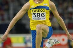 Christian Olsson (SWE) in action in the Triple Jump (Getty Images)
