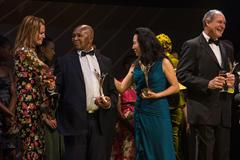 IAAF Hall of Fame members Stefka Kostadinova, Kip Keino, Wang Junxia and Alberto Juantorena at the IAAF Centenary Gala in Barcelona (Philippe Fitte)