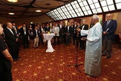 IAAF President Lamine Diack with IAAF Official partners ()
