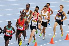 Athletes in action  during the Men's 3000 metres Steeplechase Final on day six of the14th IAAF World Junior Championships in Barcelona on 15 July 2012 (Getty Images)