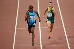 Jeffery Gibson and LJ van Zyl at the Beijing World Championships ()