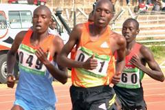 Robert Biwott on his way to winning the 1500m at the 2013 Kenyan World Youth Trials (Jonah Onyango, The Standard)