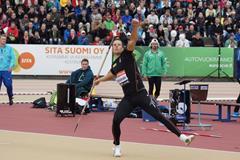 Tero Pitkamaki at the 2014 Paavo Nurmi Games in Turku (Mirko Jalava)