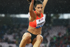 Ivana Spanovic in the long jump at the IAAF Diamond League meeting in Zurich (Jean-Pierre Durand)
