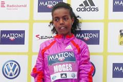 Betelhem Moges, winner of the women's race at the Mattoni Half Marathon in Olomouc (Organisers)