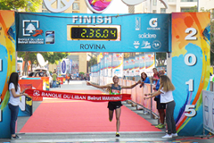 Kaltoum Bouaasayriya wins the Beirut Marathon (Organisers)