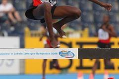 Christine Kambua Muyanga of Kenya on her way to victory in the Women's 3000m Steeplechase (Getty Images)