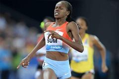 Eunice Sum, winner of the 800m at the 2013 IAAF Diamond League meeting in Zurich (Jiro Mochizuki)