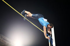 Renaud Lavillenie in action at the IAAF Diamond League meeting in Rome (Gladys von der Laage)