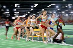 The women's 3000m final at the IAAF World Indoor Championships Portland 2016 (Getty Images)