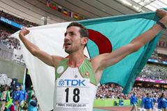 Djabir Said Guerni of Algeria celebrates winning gold in the 800m (Getty Images)
